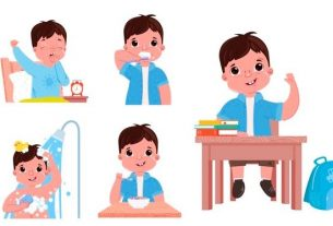 How to help young children stick to school routine